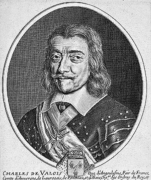 Charles de Valois, Duke of Angoulême - Charles de Valois, engraving by Pierre Daret (1610-1657)