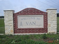 Van, TX, welcome sign IMG 6608.jpg