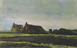 Cottages (Van Gogh series) - Cottages, 1883, Van Gogh Museum, Amsterdam (F17)