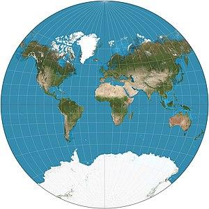 Van der Grinten projection - Van der Grinten projection of the world.