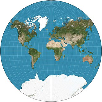 Polyconic projection class - Van der Grinten projection of the world.