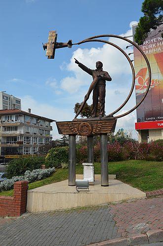 Vecihi Hürkuş - Monument to Vecihi Hürkuş in Kızıltoprak, Kadıköy Istanbul.
