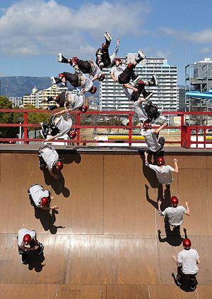 Vert skating - Takeshi Yasutoko doing an Alley-Oop Liu-Kang Flatspin 540