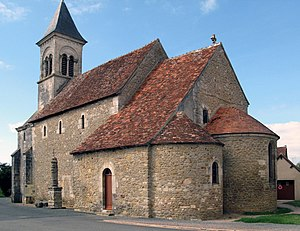 Nohant-Vic - The Church of Saint-Martin, in Vic