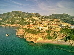 Vico Equense -  View from the sea.
