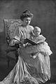 Victoria Eugenie of Battenberg and son, Speaight, CL No. 639, 1909.jpg