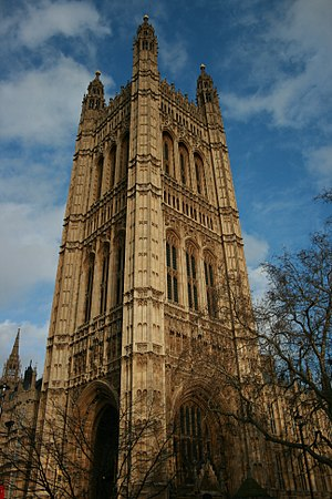 Victoria Tower - The Victoria Tower stands at the House of Lords end of the Palace of Westminster