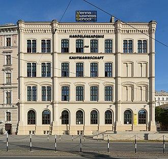 Vienna Business School - HAK I, view from Karlsplatz