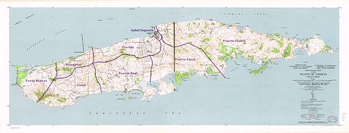 Vieques, Puerto Rico - Wikipedia on map of madrid, map of the bvi's, map of guam, map of puerto rico, map of mayaguez, map of rio piedras, map of camuy river cave park, map of gippsland lakes, map of trujillo alto, map of bermuda, map of culebra, map of borinquen, map of guaynabo, map of singapore, map of arecibo, map of caguas, map of pelican key, map of victoria, map of barcelona, map of tobago,