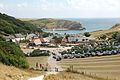 View of Lulworth Cove from west - panoramio.jpg