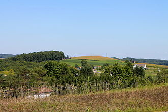 Orange Township, Columbia County, Pennsylvania - View of Orange Township looking east from Bowmans Mill Road
