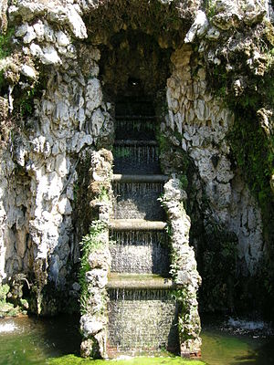 Villa Marlia - Grotto fountain at Teatro d'Acqua—Theatre of Water.