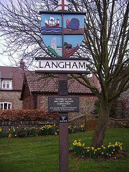 Village Sign, Langham, Norfolk, 24th March 2009.JPG