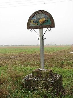 Village sign, Walcott - geograph.org.uk - 1035895