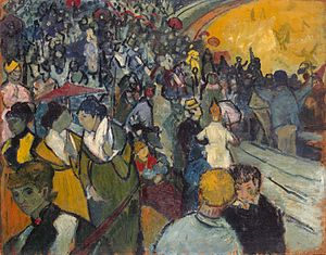 L'Arlésienne (painting) - Vincent van Gogh, Les Arènes (December 1888) Hermitage Museum, St. Petersburg