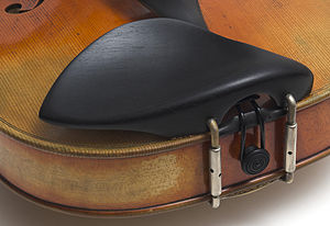 Chinrest - Chinrest on a violin