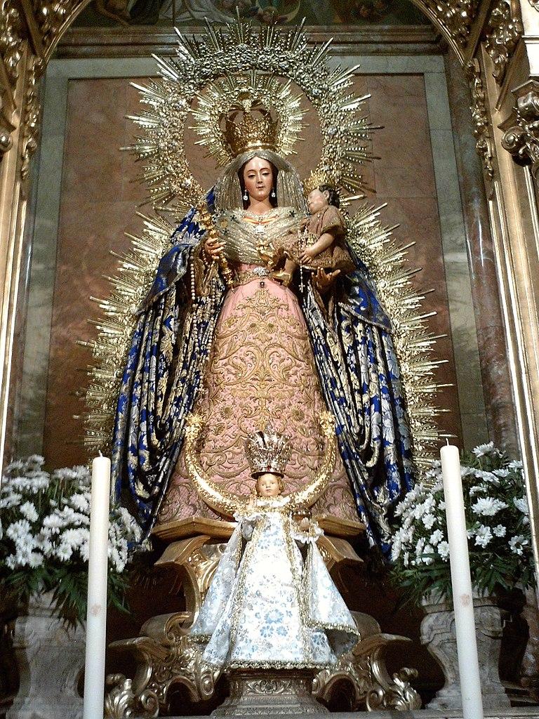 Vierge du Rosaire avec l'Enfant Jésus et l'Enfant Jésus - Photo de CarlosVdeHabsburgo