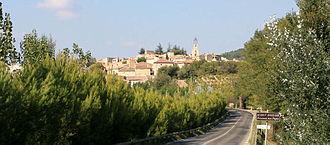 Visan - A view along the road entering Visan