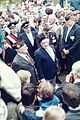Visit by U.S. President Ronald Reagan to Bitburg military cemetery 1985, people on cemetery 3 -0005.jpg