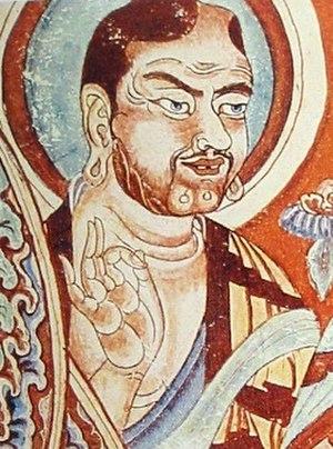 Gesture - Vitarka mudra, Tarim Basin, 9th century.