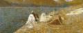Vittore Grubicy De Dragon, Lavandaie a Lierna, 1887.png