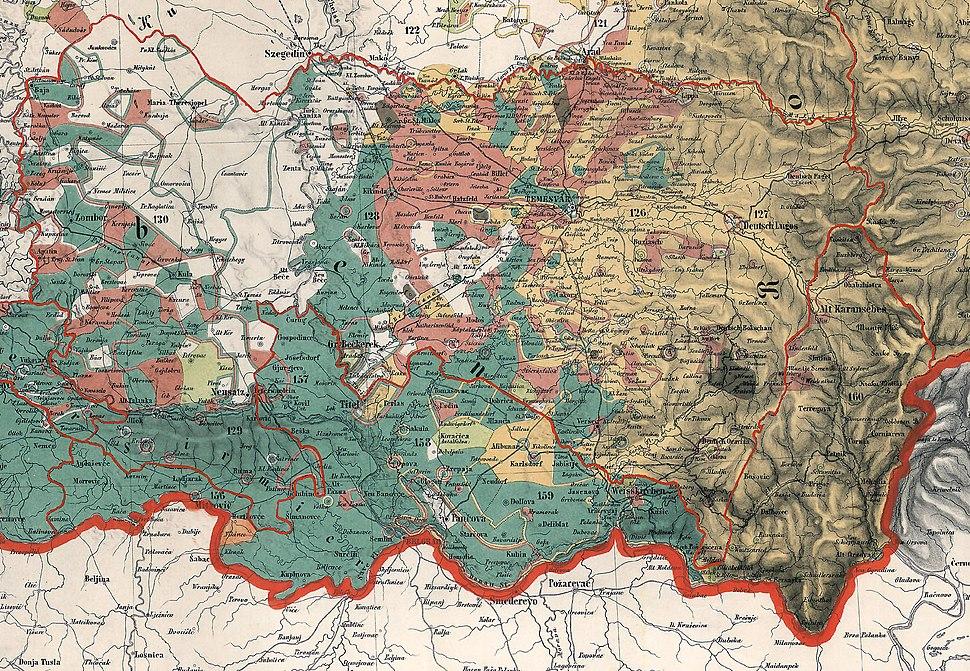 Voivodeship of serbia ethnic map 1855