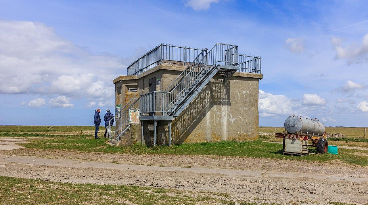 Bestand:Voormalige bunker, nu uitzichtpunt. Locatie ...