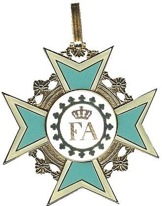 Order of the Rue Crown - Image: Voorzijde kleinood Orde van de Rautenkrone grijziger