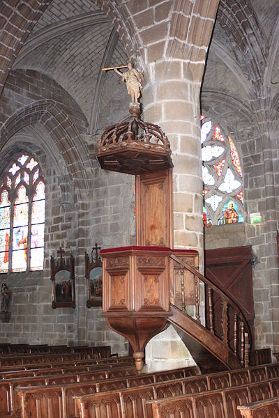 Chaire, église Notre-Dame-de-Pitié, Fr-44-le Croisic.
