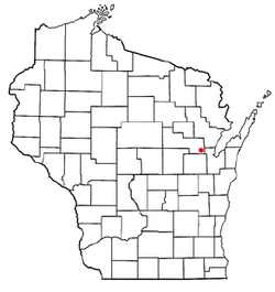 Location of Maple Grove, Shawano County, Wisconsin