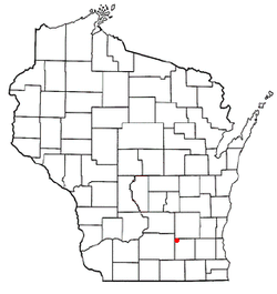 Location of Waterloo, Jefferson County, Wisconsin