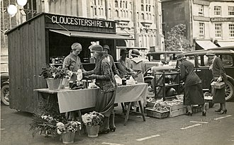 Women's Institutes - A 1933 WI produce stall in Cirencester