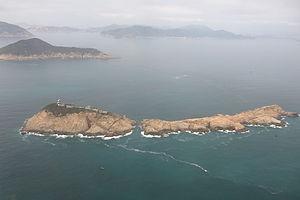 Waglan Island - Aerial view of Waglan Island