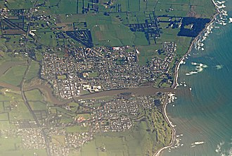Waitara, New Zealand - Waitara from the air