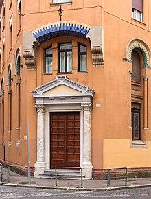 Waldensian theological faculty, entrance, Rome, Italy.jpg