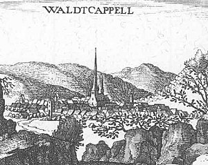 Waldkappel - Waldkappel – extract from the Topographia Hassiae by Matthäus Merian 1655