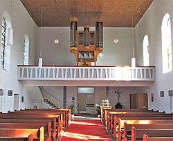 Walsheim Katholische Pfarrkirche St. Pirminius Innen 02.JPG