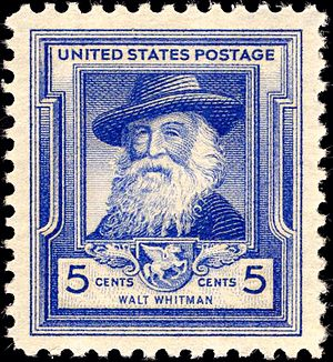 War poet - Commemorative stamp of American poet Walt Whitman in 1940