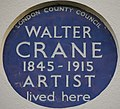 Walter Crane 13 Holland Street blue plaque.jpg