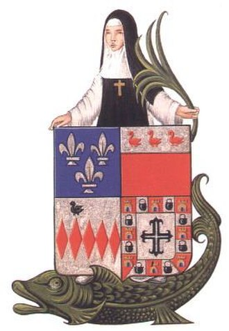 Sturgeon - The 8th Century Saint Amalberga of Temse was said to have crossed the river Scheldt, riding on a giant sturgeon