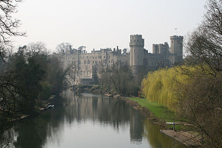 On 6 November 1605 the fugitives raided Warwick Castle for supplies. Warwick Castle -mist 23o2007.jpg