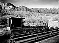 Watchman Campground amphitheater. ; ZION Museum and Archives Image 003 01B025 ; ZION 7721 (ad92099375524671a502bcc6b90aefd7).jpg