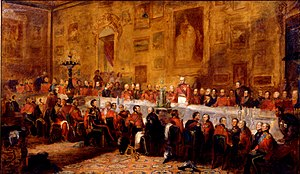 Sempronius Stretton - The 1836 Banquet to celebrate the Waterloo victory by William Salter