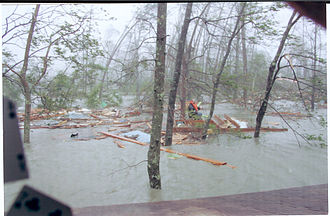 New Waveland Cafe and Clinic - Waveland, Mississippi during Hurricane Katrina, August 2005