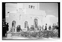 Wedding group at Gov't (i.e., Government) House. Lt. Oliver Breakwell & Min. Hersey Williamson on Feb. 9, '43 LOC matpc.12431.jpg