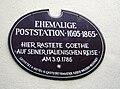 Weiden i.d.OPf. Schild Poststation Goethe 2.jpg