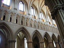 Wells cathedral nave clerestory.JPG