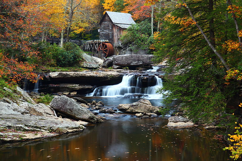 File:West-virginia-autumn-grist-mill-fall-foliage.jpg