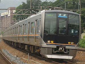 JR Kyoto Line - 321 series EMU on a local service, July 2006
