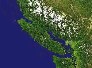 Satellitenbild von Vancouver Island